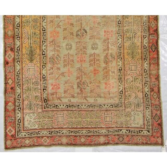 Antique East Turkistan Samarkand Rug - 5′1″ × 12′6″ For Sale - Image 4 of 5