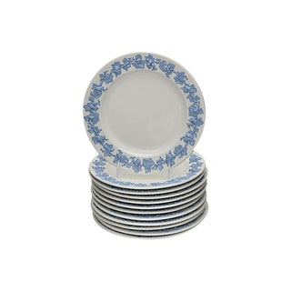 Vintage Wedgwood Queensware Plates - S/12 For Sale
