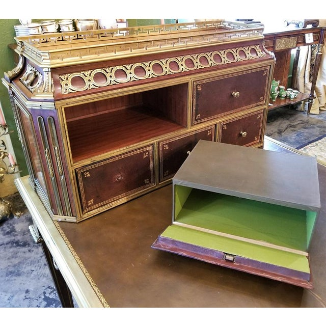 French 19th Century Louis XVI Style Desk by Paul Sormani For Sale - Image 3 of 13