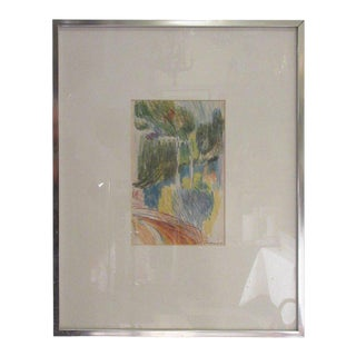 Rene Marcil Water Color on Paper For Sale