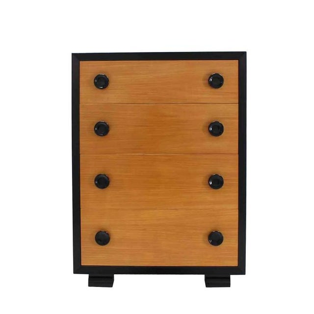 Wood Two-Tone Mid-Century Modern Four-Drawer Dresser For Sale - Image 7 of 7