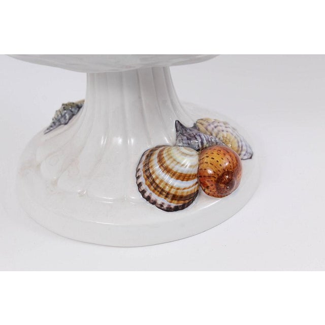 Vintage Shell Motif Tableware Including Italian Handmade Compote & Fitz & Floyd Vessels For Sale - Image 11 of 13