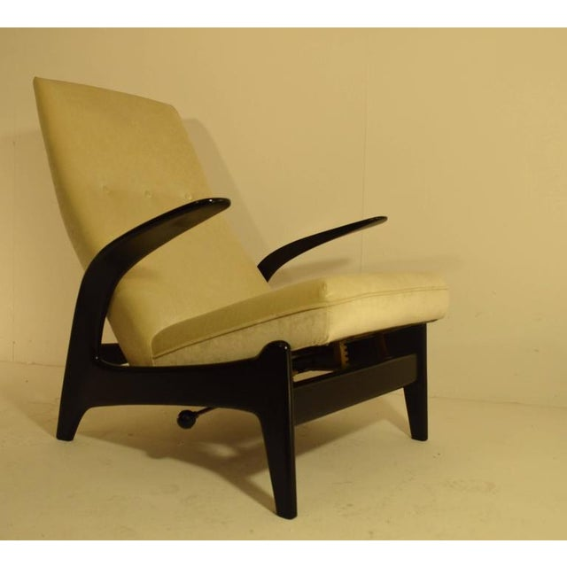 Mid-Century Modern Sculptural Gimson and Slater Rock'n Rest Lounge Chair For Sale - Image 3 of 8