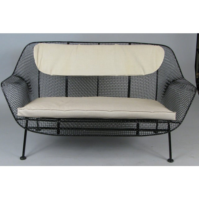 Woodard Furniture Co. Classic 1950s 'Sculptura' Settee by Russell Woodard For Sale - Image 4 of 7