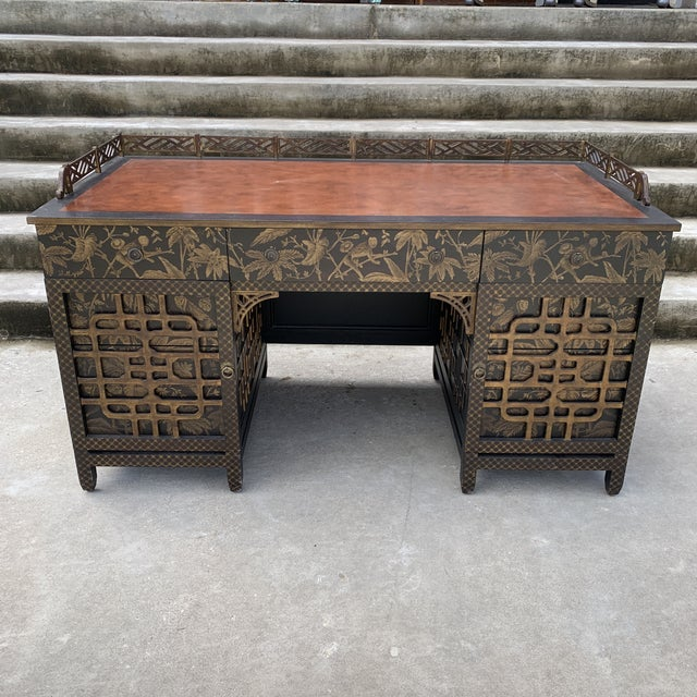 Drexel Heritage Mandalay Chinoiserie Desk For Sale - Image 13 of 13