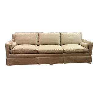Linen Fabric Down Filled Sofa