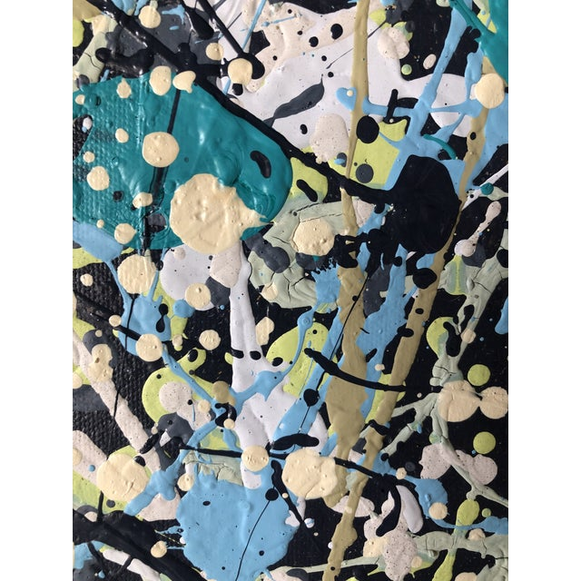 Jackson Pollock Original Abstract Acrylic Painting on Canvas For Sale - Image 4 of 6