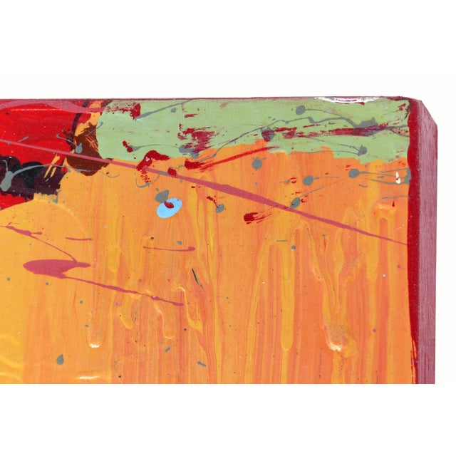 """Abstract William P. Montgomery Abstract Mixed Media Painting """"Rocket Science #1"""" For Sale - Image 3 of 13"""
