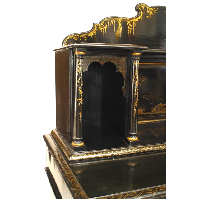 English Regency Lacquered Chinoiserie Sideboard For Sale - Image 3 of 8