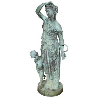 Bronze Figure of a Woman and Child Representing Summer