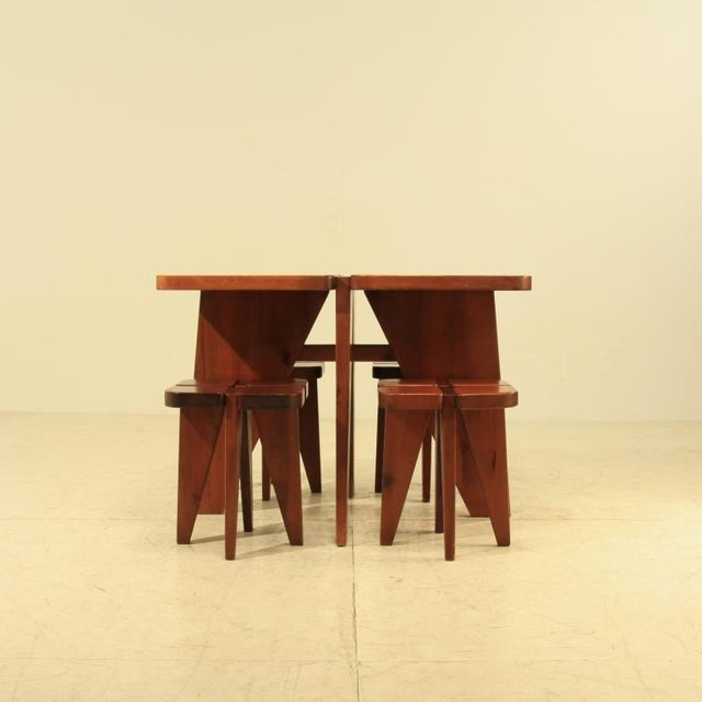 Lisa Johansson-Pape table and stools - Image 4 of 5