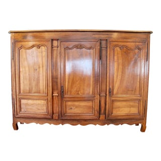 18th-C. French Walnut Armoire For Sale