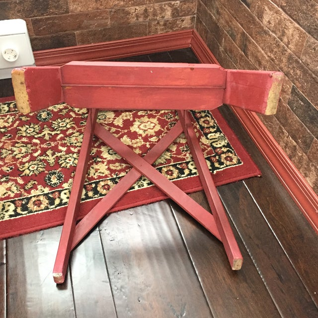 Excellent Vintage Painted Wood Step Ladder Step Stool Machost Co Dining Chair Design Ideas Machostcouk