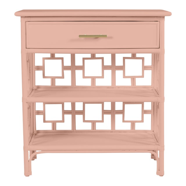 David Francis Furniture for Chairish Soba End Table, Chippendale Rosetone For Sale