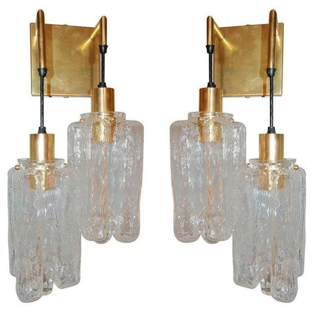 Gold Kalmar Sconces - a Pair For Sale - Image 8 of 8