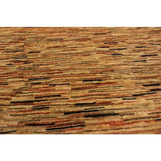 Boho Chic Gabbeh Peshawar Tena Tan/Rust Hand-Knotted Wool Rug -3'2 X 4'10 For Sale In New York - Image 6 of 8