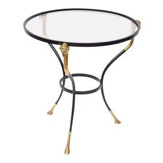 Italian Regency Table with Brass Ram Details For Sale