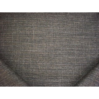 7y Jab Anstoetz Belgravia Grey Textured Tweed Drapery Upholstery Fabric For Sale