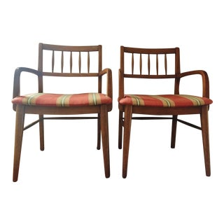 Mid-Century Dining Accent Chairs - a Pair