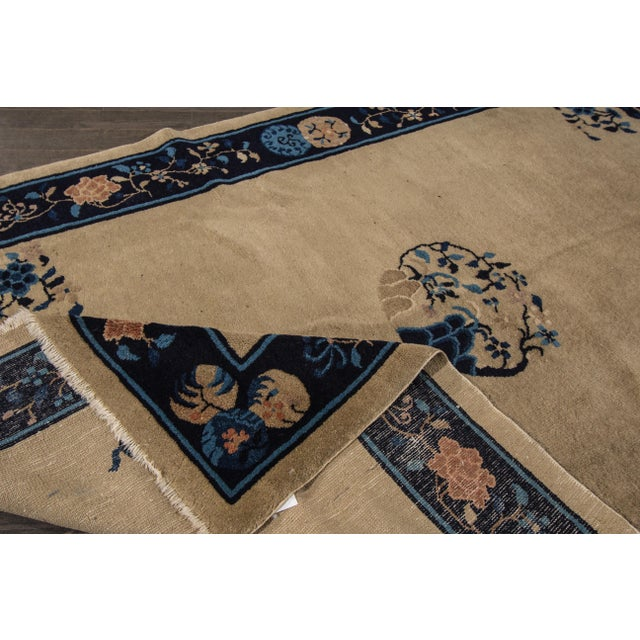 "Apadana Antique Chinese Deco Rug - 5' x 7'10"" For Sale - Image 5 of 7"