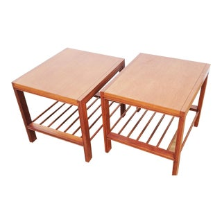 1960s Danish Modern Baker New World End Tables - a Pair For Sale