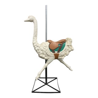 Mid 20th Century Gustav Dentzel Style Carousel Ostrich For Sale