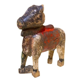 Antique Nandi Wooden Figure For Sale
