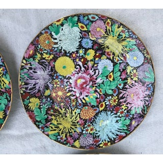 Antique Antique Chinese Mille Fleur Plates With Gold Karat Rim Plates - Set of 6 Preview