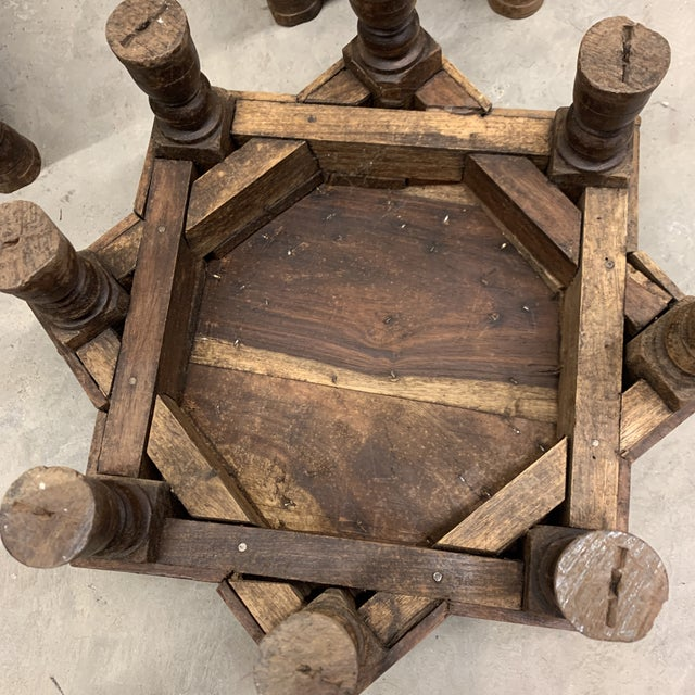 Metal Vintage Moroccan Star Stacking Tables For Sale - Image 7 of 12