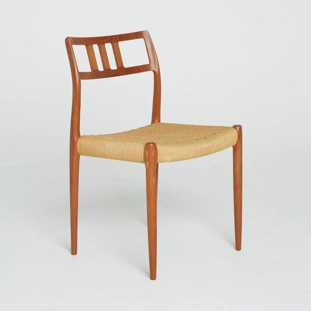 Teak and Woven Cord Chair by Niels Moller - Image 2 of 5