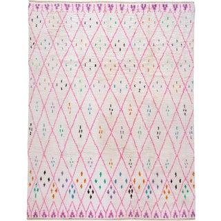 21st Century Modern Moroccan-Style Wool Rug For Sale