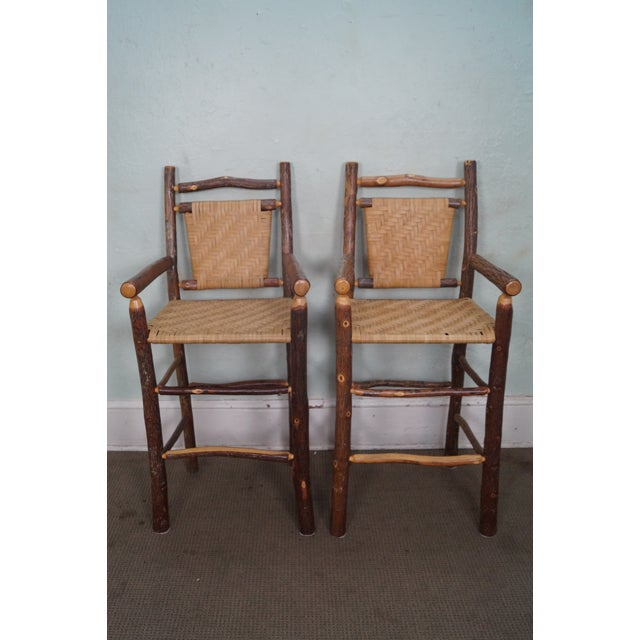 Old Hickory Rustic Barstools - Set of 3 - Image 6 of 10