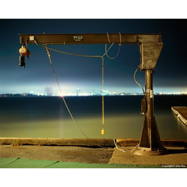 Small Boat Winch - Night Photograph by John Vias - Image 1 of 2