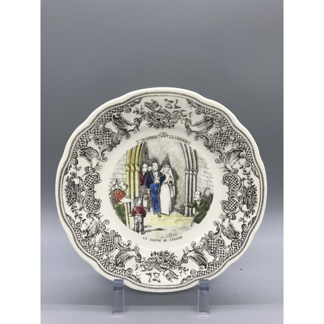 Gien France D' Un Mariage a La Campagne Plates - Set of 5 For Sale In Los Angeles - Image 6 of 9