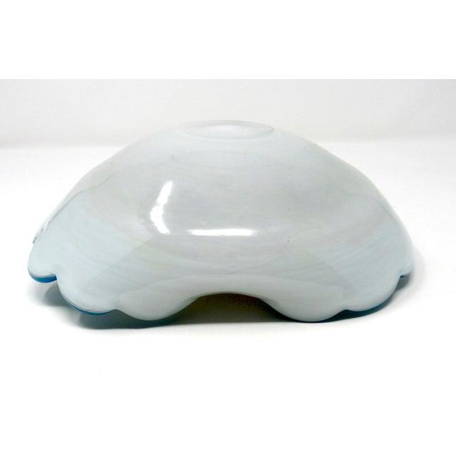 1950s Arte Vetraria Muranese Hand-Blown Biomorphic Art Glass Bowl For Sale - Image 9 of 10