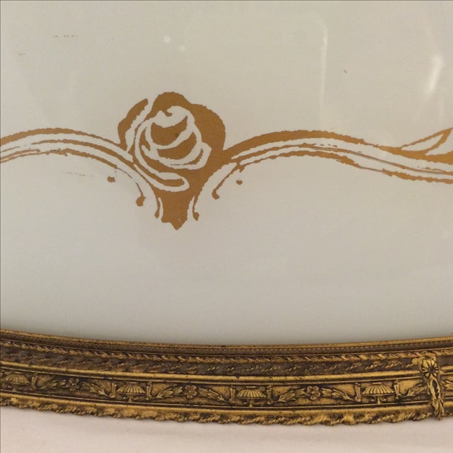 Cherub and Rose Stenciled Serving Tray - Image 4 of 8