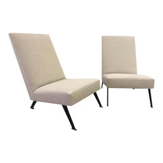 Pair of Linear Lounge Chairs For Sale
