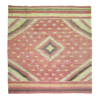 "Turkish Boho Chic Rug - 9'4"" x 10'6"" For Sale"