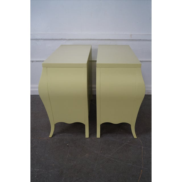 Drexel Heritage Yellow Painted Bombe Chests - A Pair - Image 3 of 10