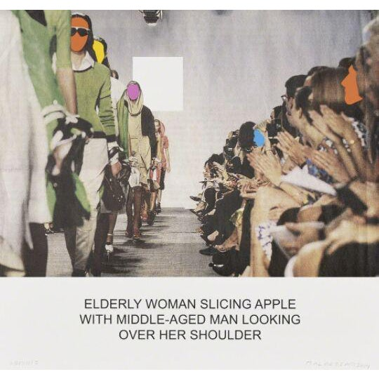 The News: Elderly Woman Slicing Apple... screen print by John Baldessari - Image 1 of 3