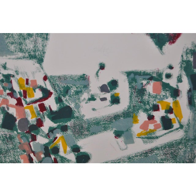 1950s Vintage Original Pencil Signed Lithograph by Alexandre Sacha Garbell For Sale - Image 5 of 6