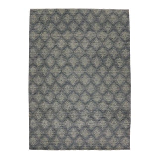 New Modern Transitional Damask Area Rug, Contemporary Victorian Damask Rug - 10x14 For Sale
