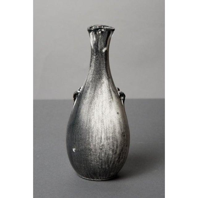 Exquisite Danish White Gray Glazed Ceramic Vessel Vase Decaso
