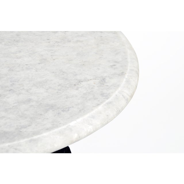 Round Table with Iron Legs and Marble Top - Image 8 of 11