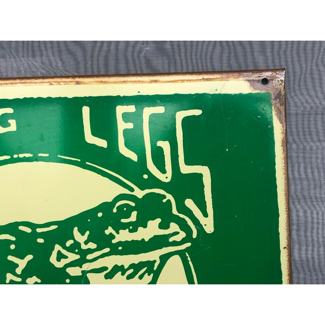 1990s Marty Mummert Distressed Metal Wall Sign For Sale - Image 4 of 13