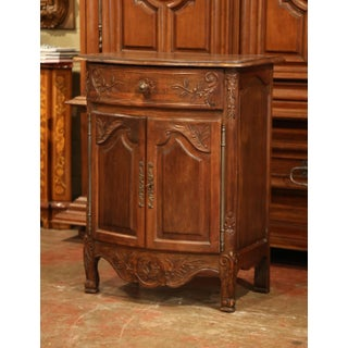 Early 20th Century French Louis XV Carved Walnut Bombe Cabinet From Provence