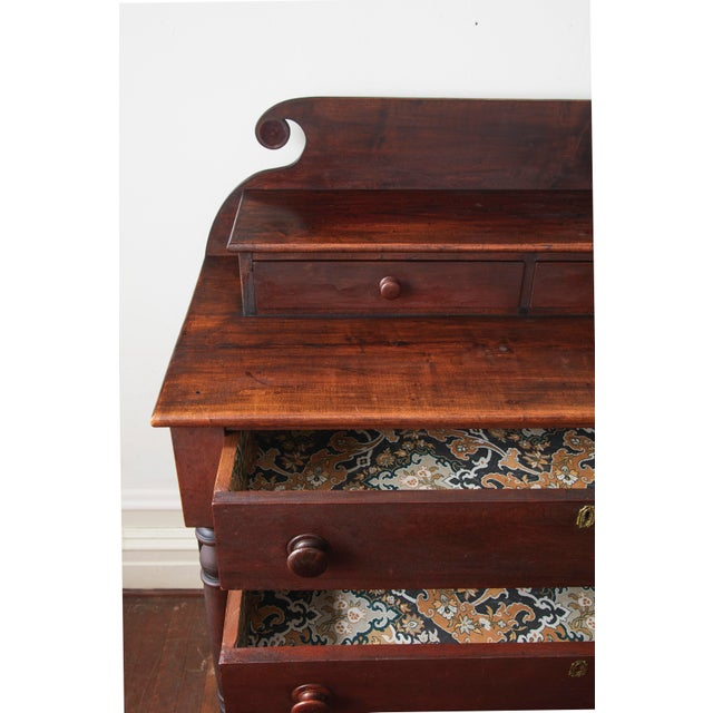 19th Century Empire Dresser With Paper Lined Drawers For Sale In New York - Image 6 of 9