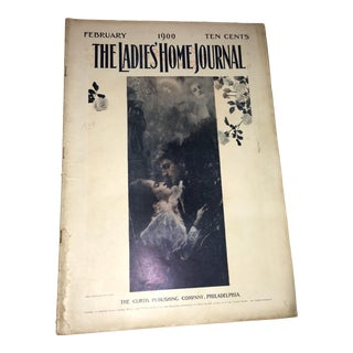 February 1900 Vintage Ladies Home Journal Klimt Cover Magazine For Sale
