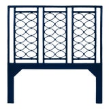 Image of Infinity Headboard Queen - Navy Blue For Sale