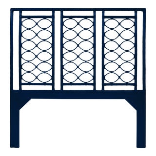 Infinity Headboard Queen - Navy Blue For Sale